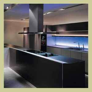 Kitchen splashback sophisticated touch